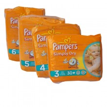 Pampers Simply Dry Range