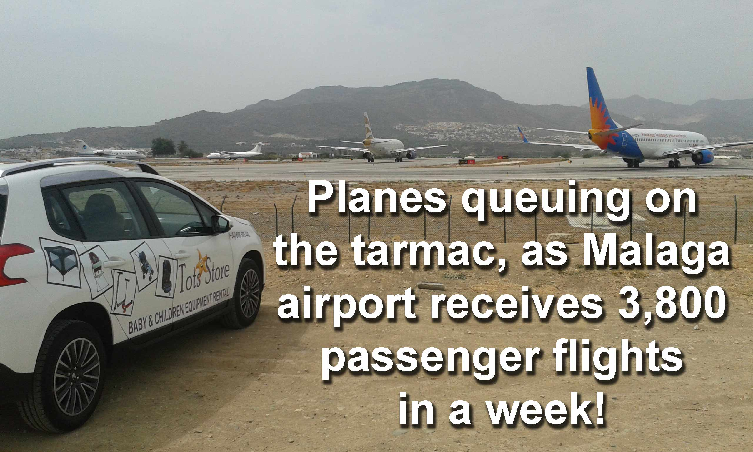 malaga airport runway spain