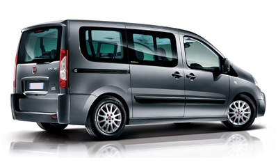 Large family vehicle with 9 seats and luggage space. Ideal for groups or 2 families traveling together